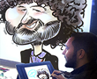 tablet caricatures